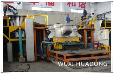 Semi Automatic Vertical Continuous Casting Machine 2 Strand For Red Copper Round Billets