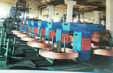 China Upcasting Process Oxygen Free Copper Rod Continuous Casting Machine Annnual 5000MT D8-15mm distributor